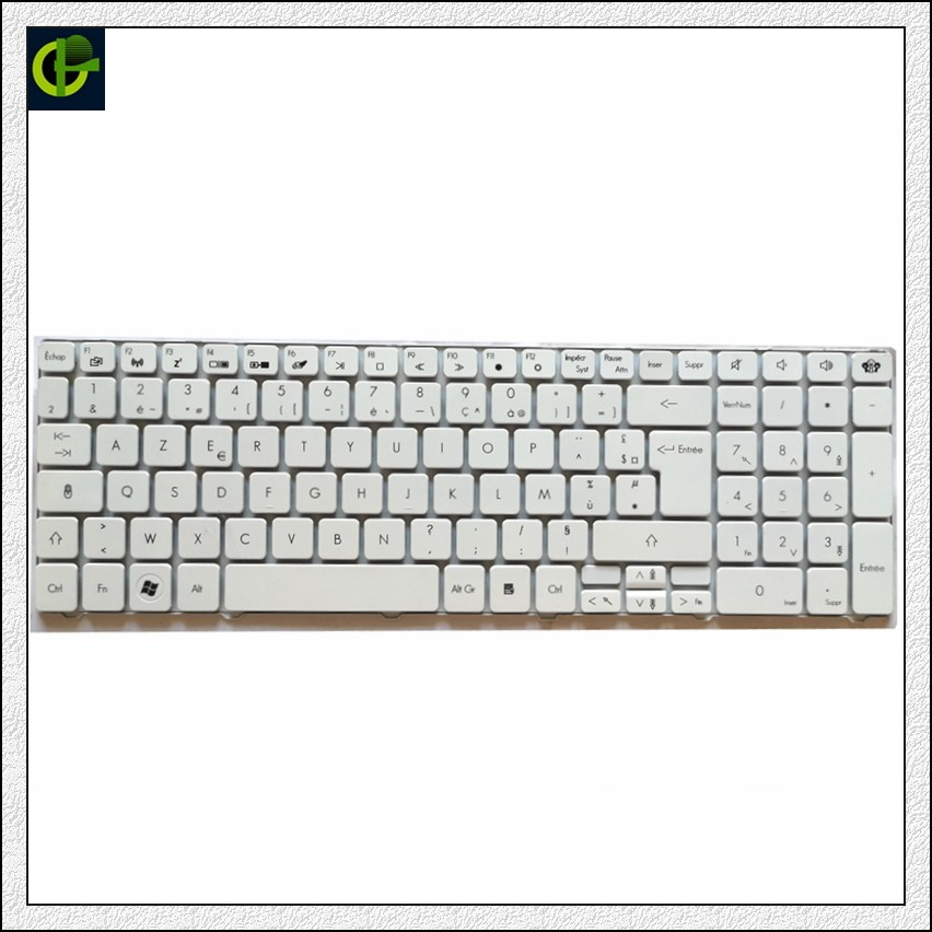 French Keyboard For Acer Aspire 5250 5340 5349 5360 5733 5733Z 5750 5750G <font><b>5750ZG</b></font> 5800 Black FR AZERTY white image