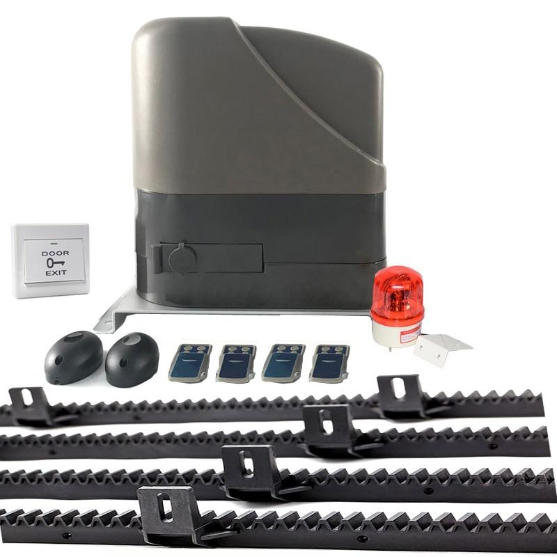 with 4m nylon racks 800kg loading 12VDC sliding gate opener motor kit optional as GSM module keypad