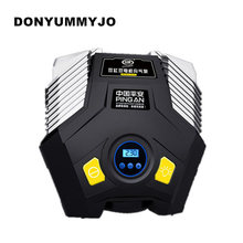 DONYUMMYJO Double Cylinder Double Motor LED Light Digital Display Auto Car Tire Inflator 12V Electric Car Air Compressor Pump