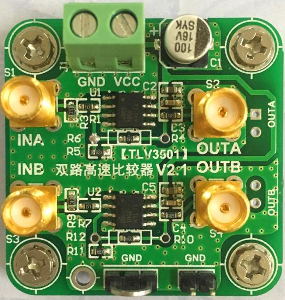 TLV3501 Module, Dual 4.5ns High Speed Comparator, Wide Bandwidth, Input Voltage, No Jitter shell spirax s3 tlv