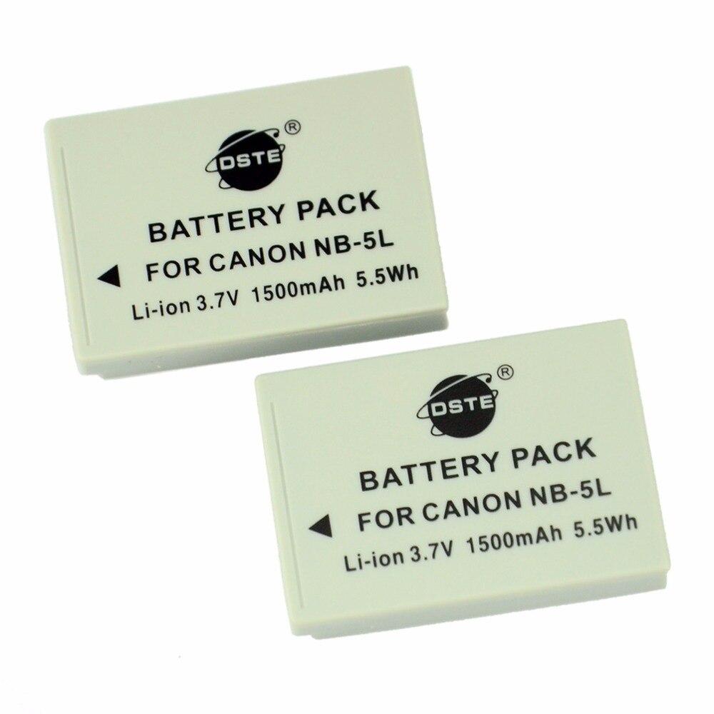 Dste 2 unids NB-5L NB5L batería para Canon IXUS 800 850 860 870 900 90 950 960 970 980 990 es Ixy 800 810 820 830 Cámara