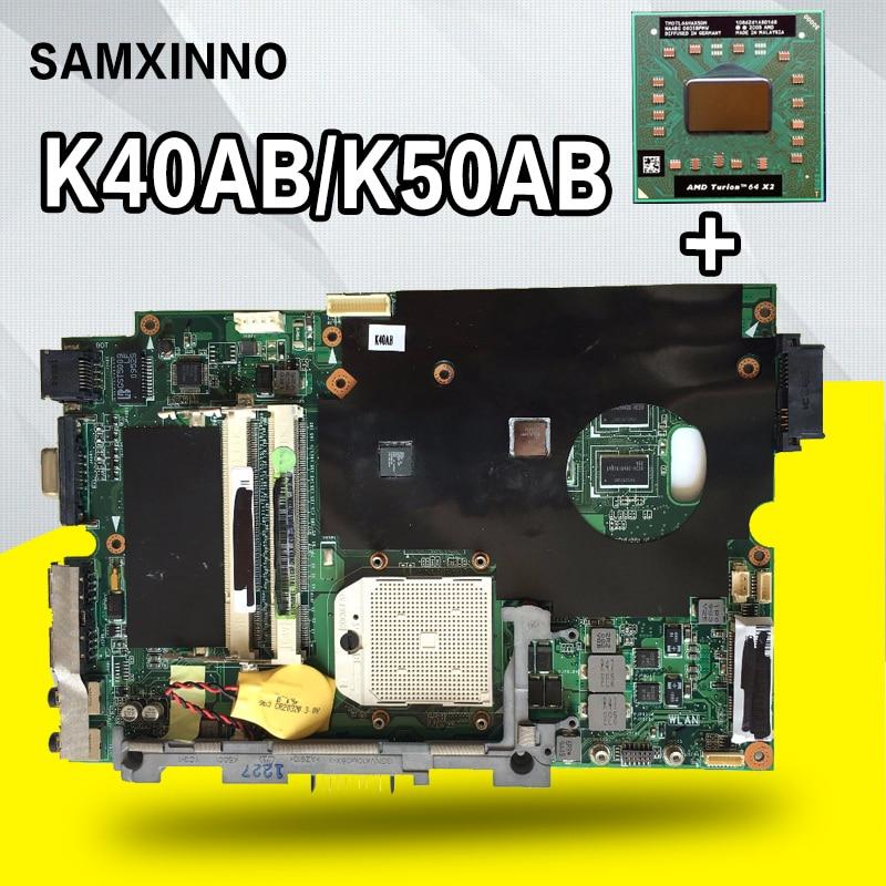 Send CPU+K40ab Motherboard 15inch machine For ASUS X5DAF K50AB K50AD K50AF laptop Motherboard K40ab Mainboard K40ab Motherboard цена