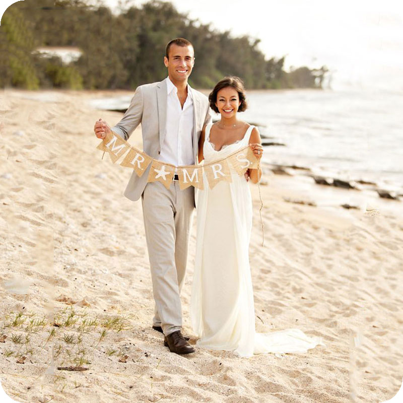 Ivory White Linen Men Wedding Suits