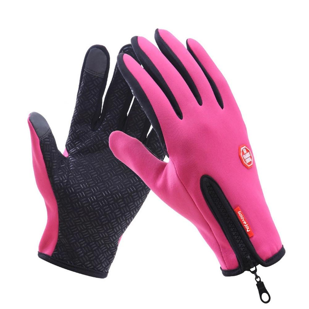 2018 New Women Men Winter Gloves Outdoor Waterproof Touch Screen Gloves Wrist Windproof Riding Zipper Sportswear Gloves
