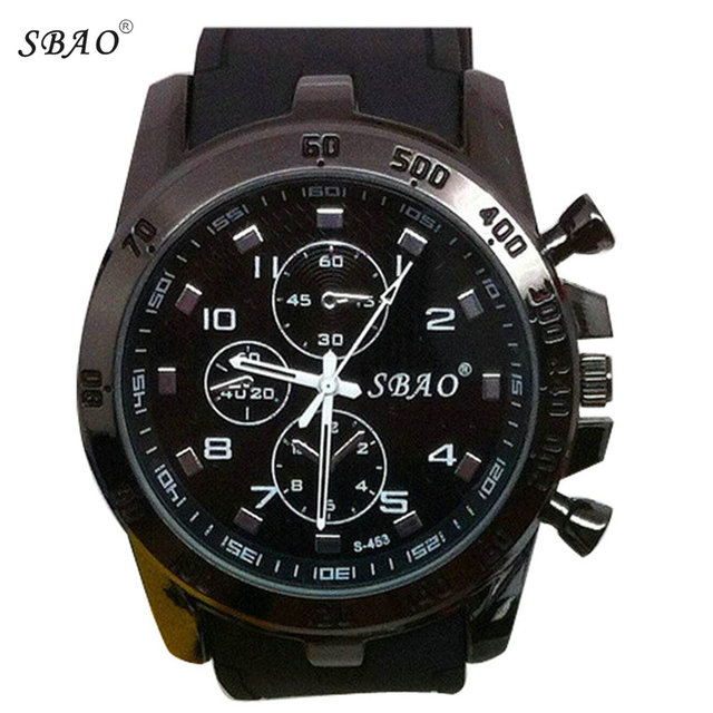 SBAO 2018 Mens Luxury Stainless Steel Sport Analog Quartz Watch Modern Men Fashi