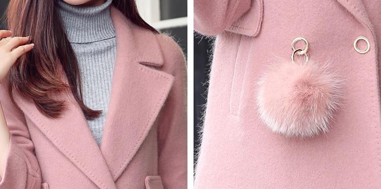 Nouveau F1996 Femmes D'hiver Slim Laine Veste Long De red army Moyen Manteau Et Green Blue Mode Élégante pink Automne xqfYwFOSF