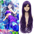 Free Shipping 70cm Long Curly Love Live Cosplay Nozomi Tojo Purple wig Anime Party Cosplay Wig