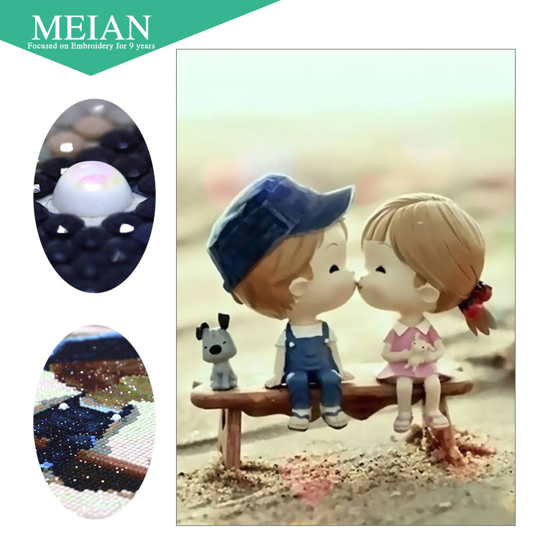 Arts,crafts & Sewing Reasonable Meian,special Shaped,diamond Embroidery,portrait,cute,5d,diamond Painting,cross Stitch,3d,diamond Mosaic,decoration,christmas Top Watermelons Needle Arts & Crafts