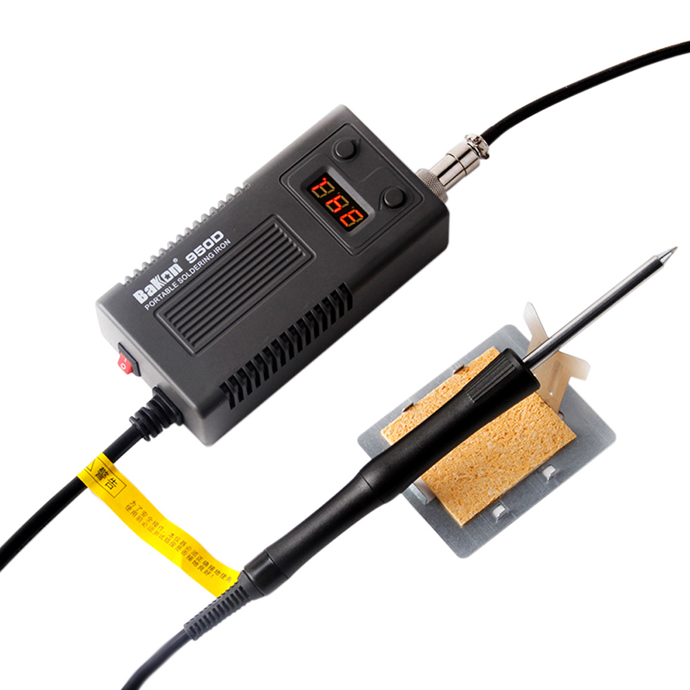 BAKON 950D 75W Portable Soldering Station Mini Digital Display Temperature Electric Iron With T13 Iron Tip