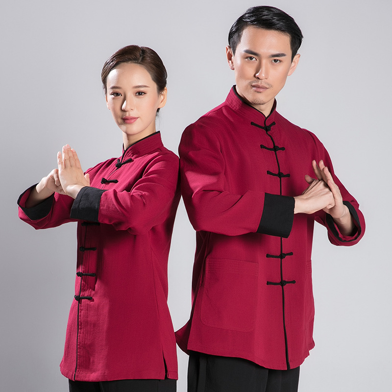 Linen Taiji Clothing Kung Fu Uniform Martial Arts Tai Chi Suits Chinese Tang Dress Shirt+Pants Tai Chi Clothing