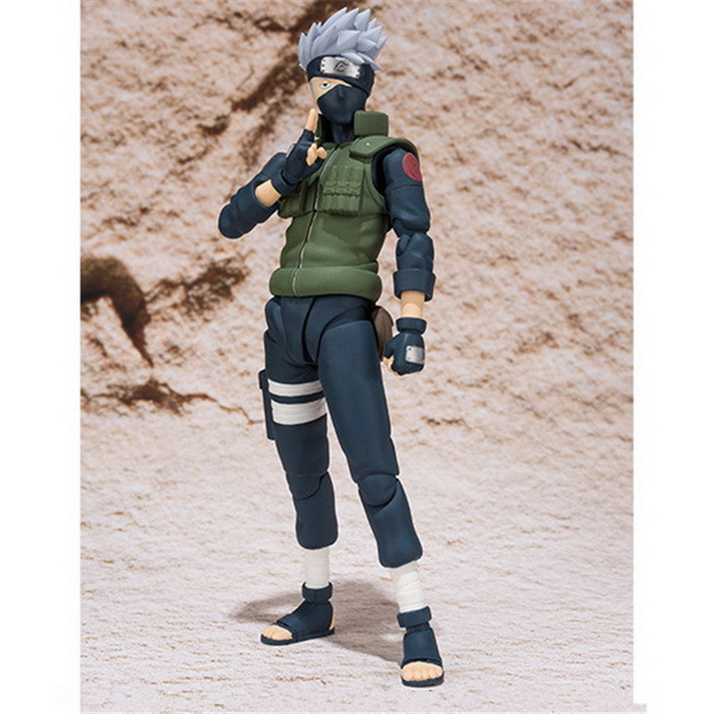 Action-Figure Kakashi-Joints Naruto Shippuden Pvc-Toys Anime Friends for Gifts 14cm Moveable