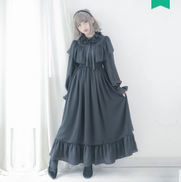 Princess sweet lolita dress [Dolly Delly] Original Ethereal Dream Cloak Chiffon and ankle long dress long sleeves Dolley-00115