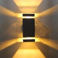 8 w led à prova dwaterproof água lâmpada de parede ao ar livre ip54 alumínio lâmpada de parede frete grátis outdoor wall lamp lamp ip65 wall outdoor lamp -