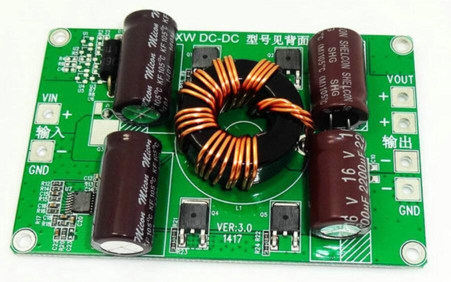 ФОТО DC 24V Step Down to 12V 20A Power Converter Buck Module Thin Bare Board Power