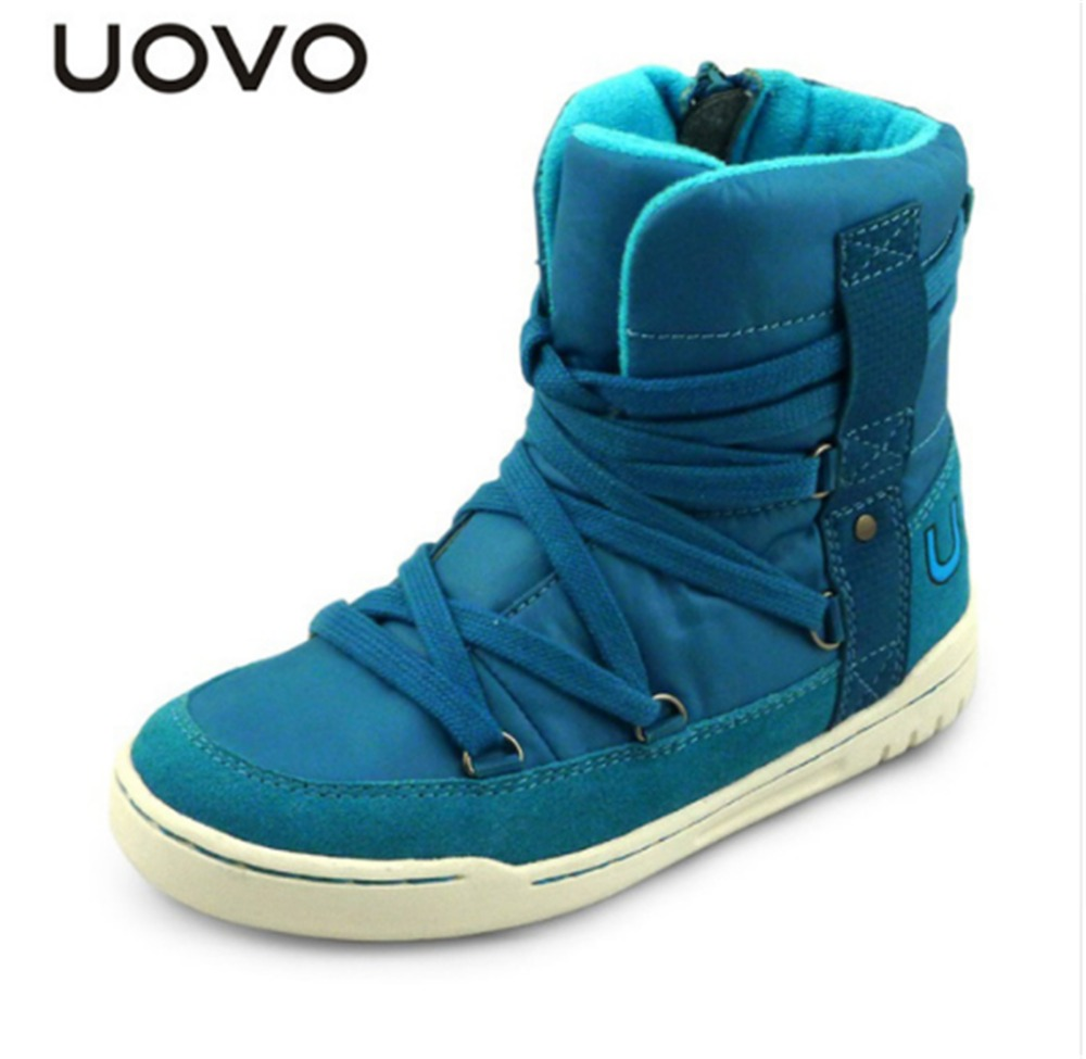UOVO brand children shoes fashion high cut winter boys and girls snow boots shoes lace kids sport shoes for 4-15 years old. uovo 2017 new kids shoes fashion children rubber boots for girls boys high quality warm winter children snow boots size 33 38