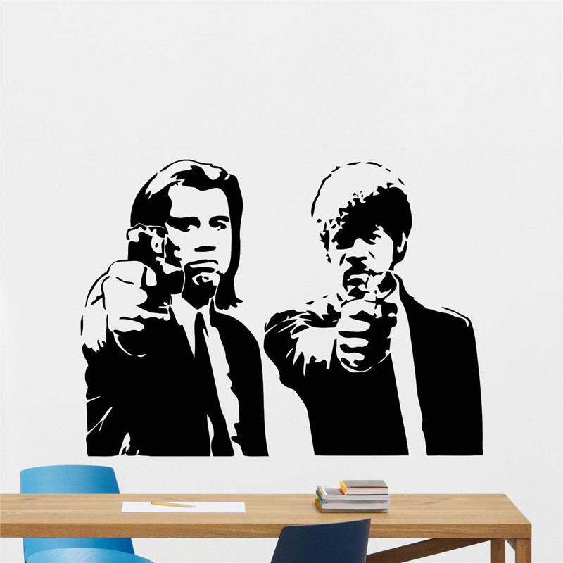 pulp-fiction-wall-vinyl-decal-font-b-tarantino-b-font-film-movie-sticker-art-decor-mural