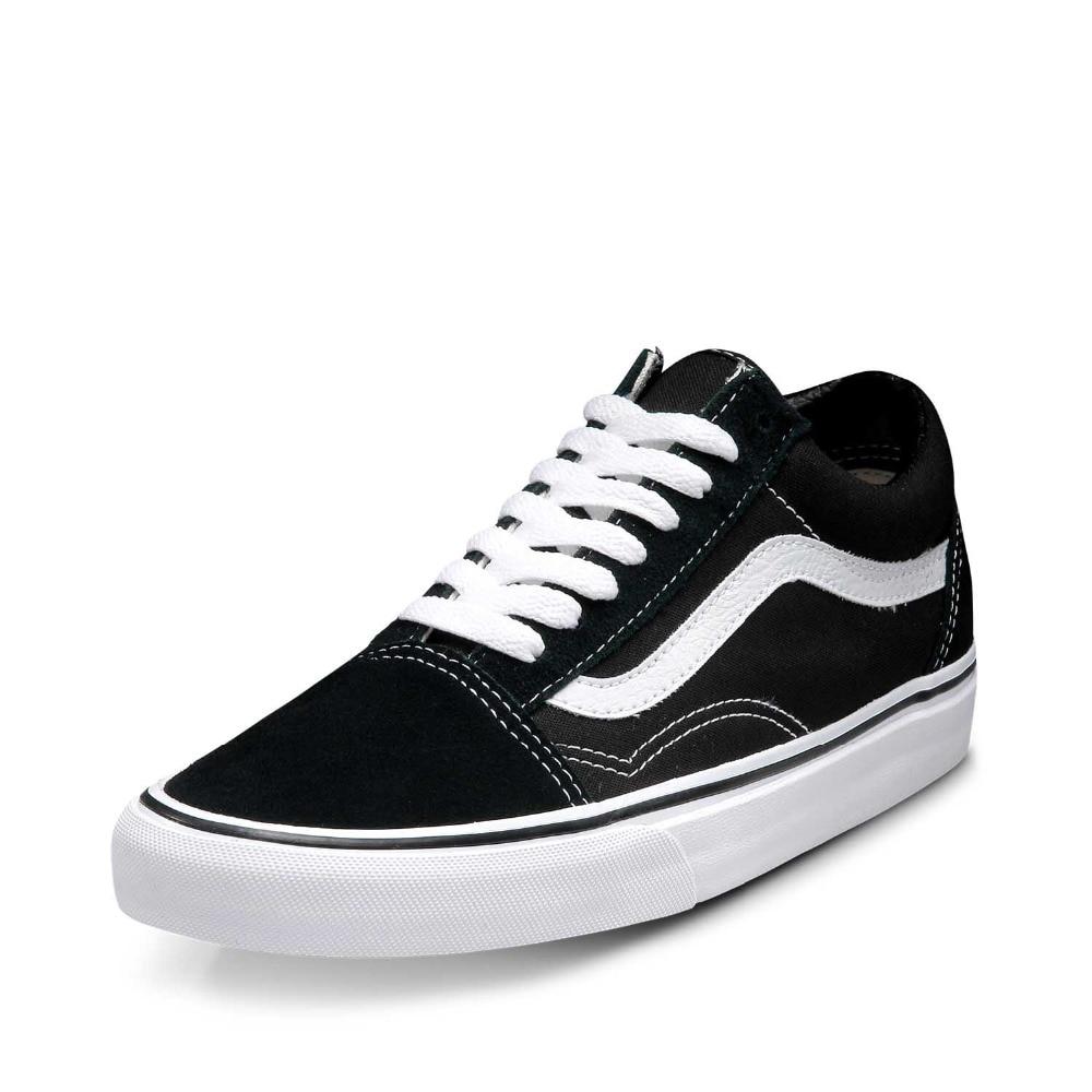 Vans Old Skool Sneakers Low top zapatillas Unisex hombres mujeres deportes  Skateboarding zapatos planos transpirables clásicos de lona Vans en Zapatos  de ... 443ba0c8697