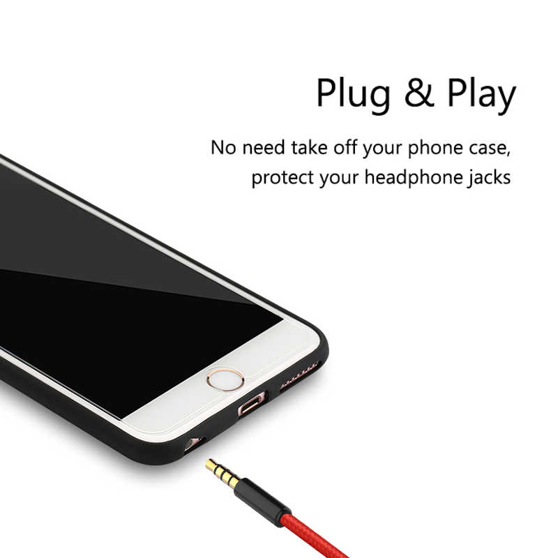 Jack 3.5 Mm Kabel AUX Kabel Audio 3.5 Mm Jack Kabel Speaker 4 Tiang Nilon Dikepang Headphone Mobil MP3 AUX perpanjangan Kabel Pria
