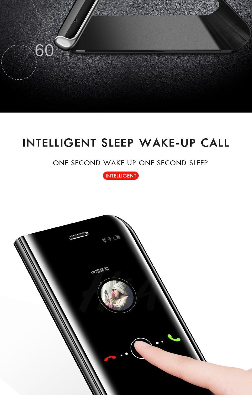 HTB1ul1haizxK1RkSnaVq6xn9VXab H & A Clear View Smart Spiegel Telefon Fall Für Samsung Galaxy S9 S8 S7 S6 Rand Plus Hinweis 8 9 für A3 A5 A7 A8 2017 J3 J7 2018 Fall