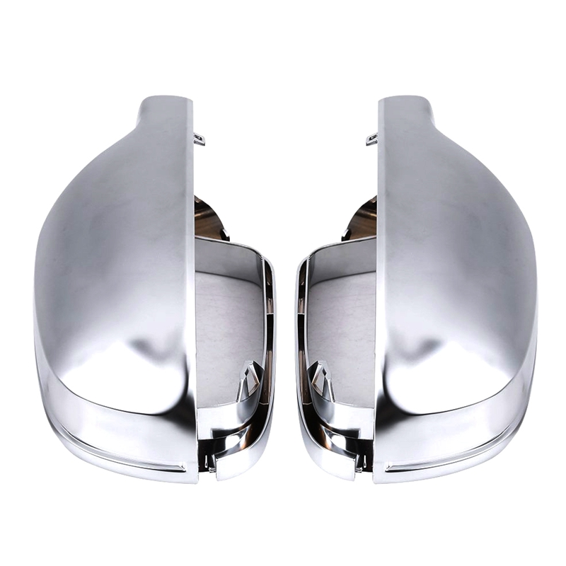 2Pcs Rear Mirror Housing Cover Cap,Nickel Plating Silver Mirror Cover For Audi B8.5 A3 A4 A52Pcs Rear Mirror Housing Cover Cap,Nickel Plating Silver Mirror Cover For Audi B8.5 A3 A4 A5