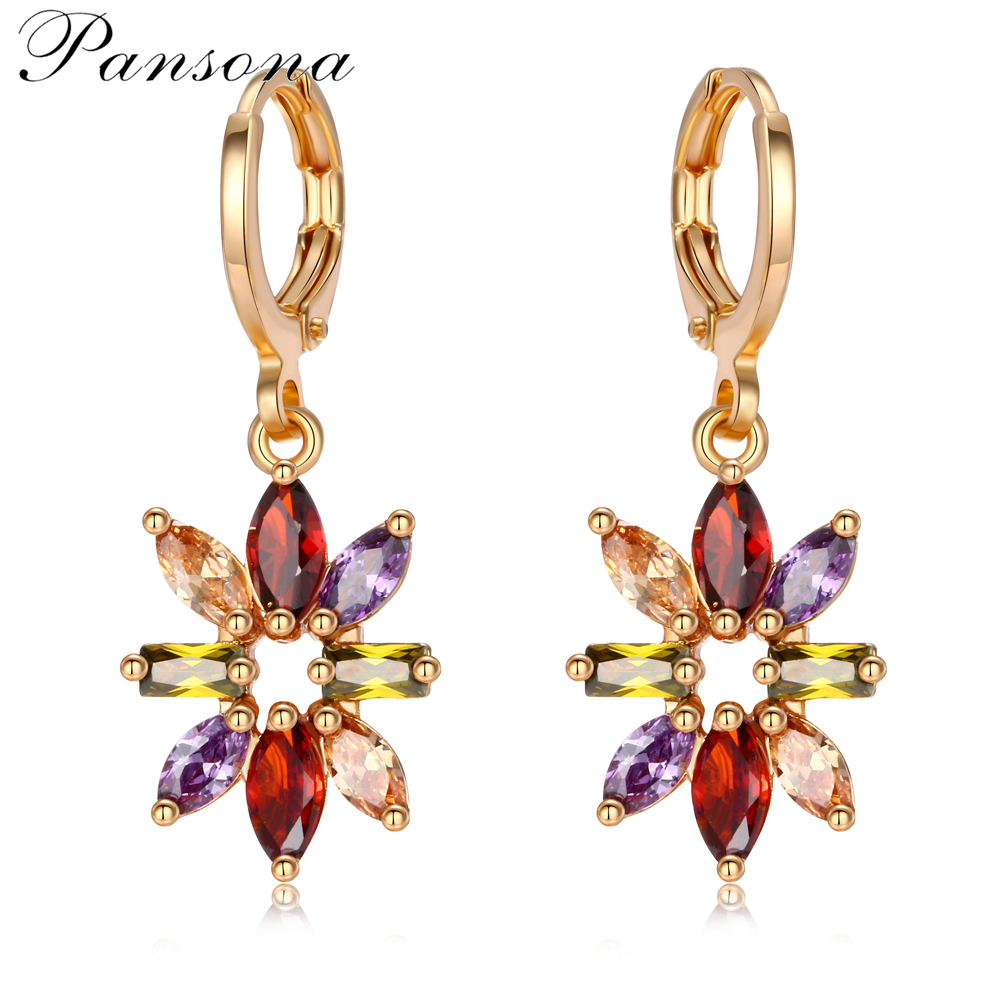 New Collection Rose Gold Color Luminous Colorful CZ Br