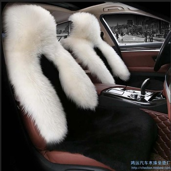 auto supply winter long sheep fur car seat cover cushion Low profile luxury 5 seats covers for 1 set full wool cover cushion