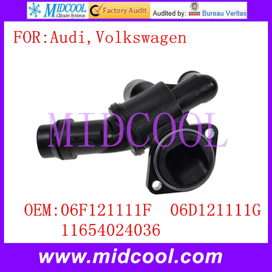 New Auto Coolant Thermostat Housing use OE NO. 06F121111F , 06D121111G , 11654024036 for Audi Volkswagen VW