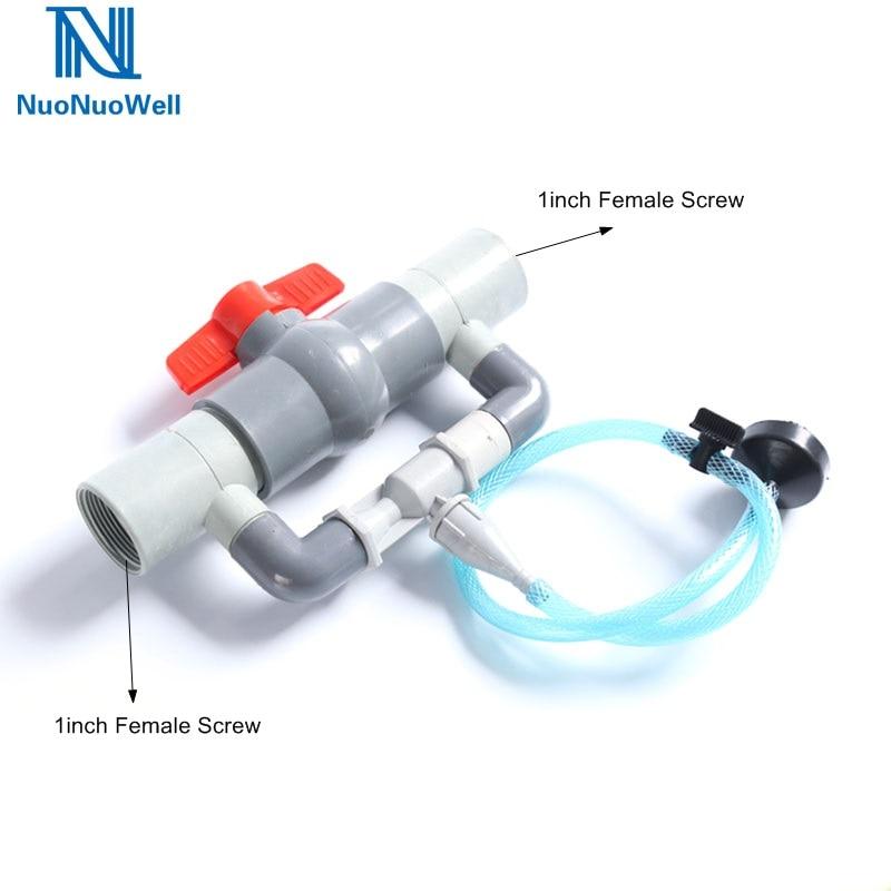 NuoNuoWell 1 pulgada de rosca hembra de riego Kit de inyectores de fertilizantes Venturi para agricultura suministros de jardín riego por goteo 3/4