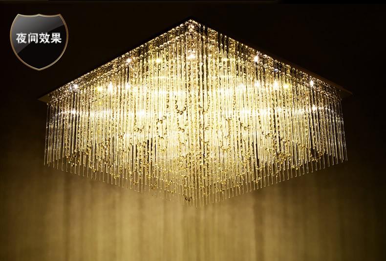 Nouvelle conception de lustre foyer lustre en cristal moderne