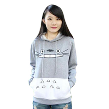 Harajuku Women Sweatshirt Cartoon Totoro Animal bts Hoodie Spring/Autumn Outside Pullover DM#6
