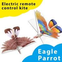 Rc E-Latające Ptaki Montażu Zabawki Kreatywne Latające Rc Elektryczne Zdalne sterowanie Papuga Ptak Xmas Prezenty