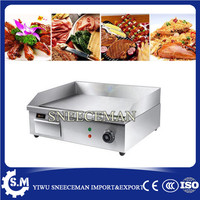New model safe and efficient stainless steel professional electric flat top grill machine