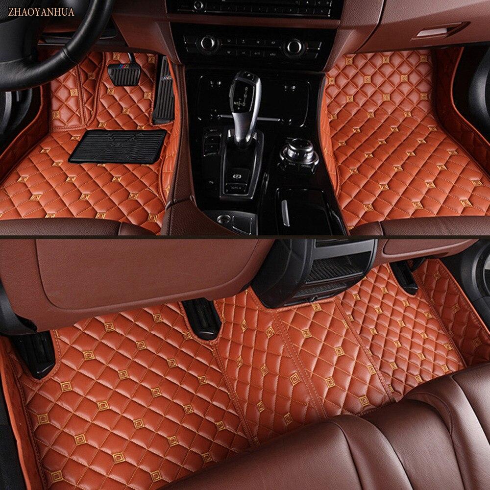 Tapis de sol de voiture sur mesure pour Cadillac ATS XTS SRX SLS Escalade revêtements de tapis en cuir imperméable