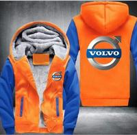 Free shipping volvo hooded motorcycle jacket fashion warm zipper sports car hoodie yellow anime law jacket