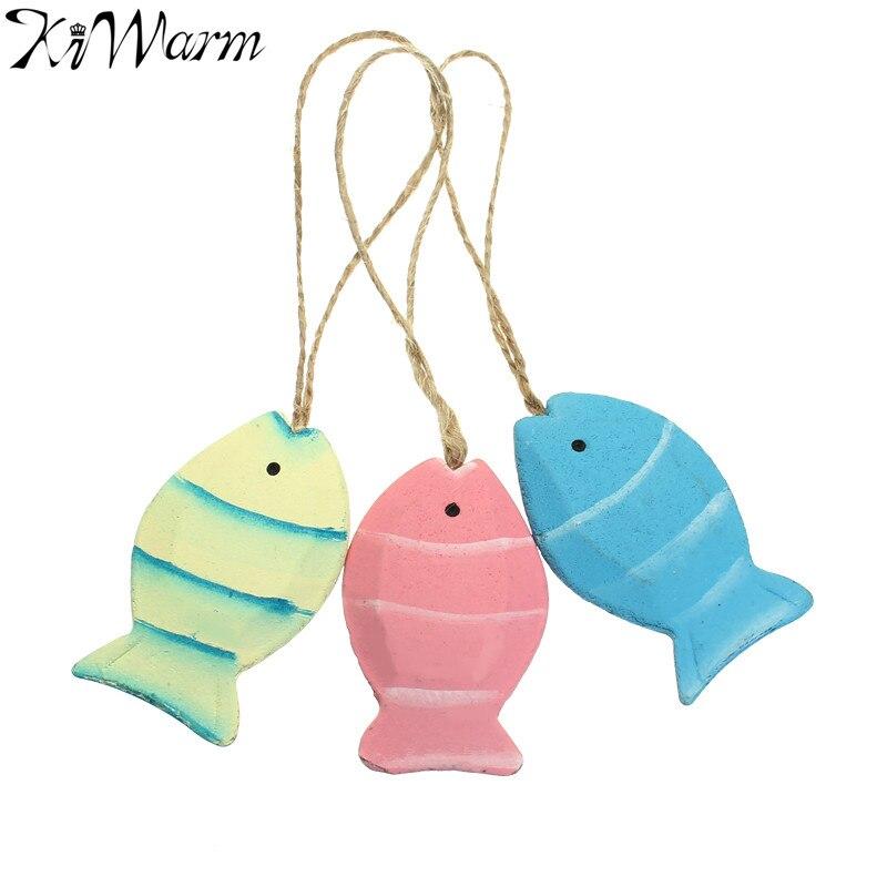 pez de madera mediterrneo nautical decor pared ornamento artesana pequea adornan marina colgante colgar para