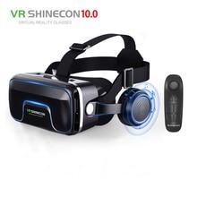 цена на Hot!2019 Google Cardboard VR shinecon Pro Version VR Virtual Reality 3D Glasses +Smart Bluetooth Wireless Remote Control Gamepad