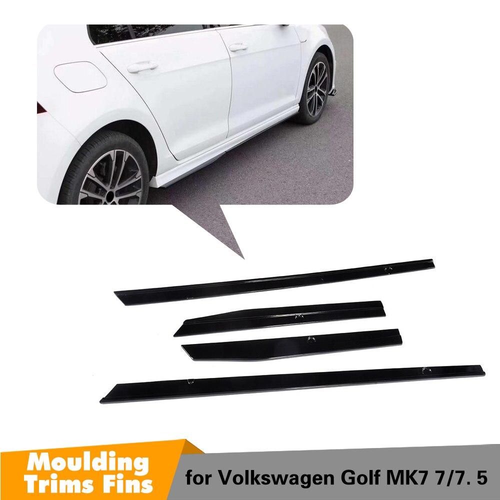 MK7 Carbon Fiber/PP Side Bumper Skirt For Volkswagon GOLF 7 MK7 & MK7.5 GT-I & R & R-line Model 2014 - 2018 4Pcs/Set