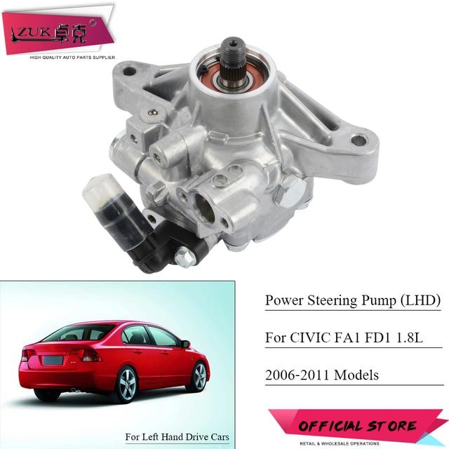 Zuk Steering Pump For Honda Civic 2006 2007 2008 2009 2010 2017 Fa1 Fd1 1 8