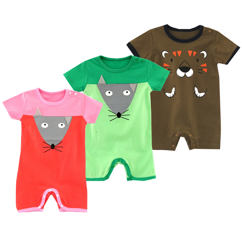 2018 Tiny Cottons short Sleeve Baby Romper Newborn Girl Clothes Cute Squirrel Printed Ju ...