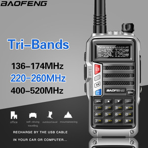 Image 3 - BaoFeng UV S9 8 ואט עוצמה Tri band 136 174/220 260/400 520Mhz 2 1xantenna חובב כף יד חם שתי דרך רדיו ווקי טוקי