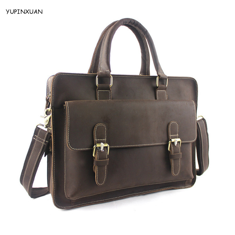 YUPINXUAN Top Quality Cow Leather Handbags for Men Genuine Leather Work Bags Vintage Cowhide Briefcases as Gift Brief case Chile yupinxuan genuine leather briefcases men real leather messenger bags business laptop bag lawyer brief cases maletin chile