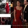 Envío gratis resort 2012 gossip girl Leighton Meester Cap mangas largas vestidos de noche formales novia vestido de la celebridad CD080