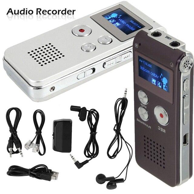 8 ギガバイトボイスレコーダー USB プロ 30 時間ディクタフォンデジタルオーディオ/サウンド/音声レコーダー Wav MP3 音楽プレーヤー