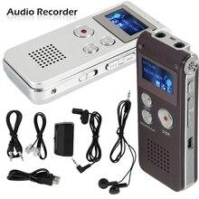 Gravador de voz profissional usb 8gb, 30 horas de gravação, áudio digital, som e voz com wav mp3 jogador do jogador