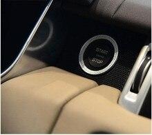 Автомобиль Двигатели для автомобиля старт кольцо Накладка для Land Rover Discovery Sport Range Rover Sport Evoque Vogue ABS Chrome Интимные аксессуары стайлинга автомобилей 2017