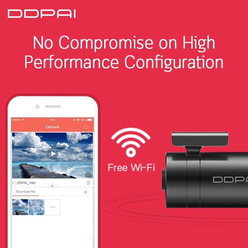 Image 3 - Global Version Xiaomi Mijia Mini DDPai Mini English DDPai Dash Cam Camera Mini Body Power Interface Front Rear Record-in DVR/Dash Camera from Automobiles & Motorcycles