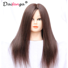 80 Human Hair Mannequin Head Training Head Practice Hairdressing Mannequin Cosmetology Hair Styling Mannequins Doll Heads