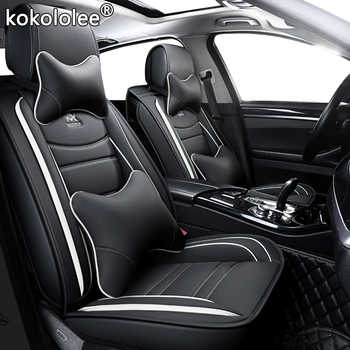 kokololee leather car seat cover For peugeot 206 3008 2008 307 507 508 kia cerato chevrolet orlando mitsubishi lancer car seats - DISCOUNT ITEM  40% OFF All Category