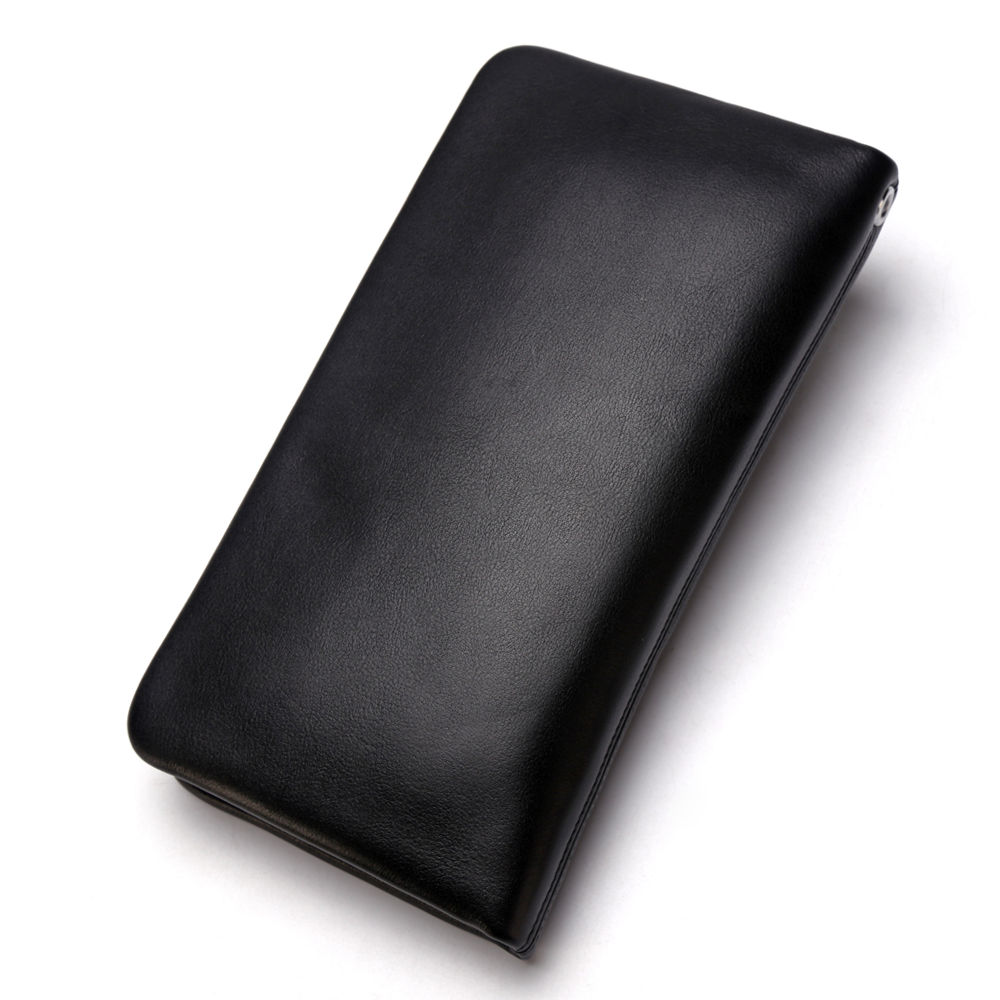 Image 2 - BISON DENIM Male Clutch Genuine Leather Mens Wallet Long Wallet 