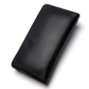 Image 2 - BISON DENIM męska kopertówka prawdziwy męski portfel ze skóry długi portfel marki Cowskin posiadacz karty monety kiesy mężczyzn portfel biznesowy N8069